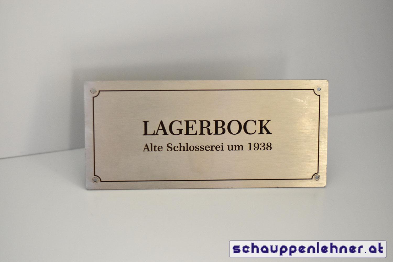 Metallschild Lagerbock