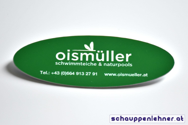 Grüner Anstecker von Oismüller Schwimmteiche