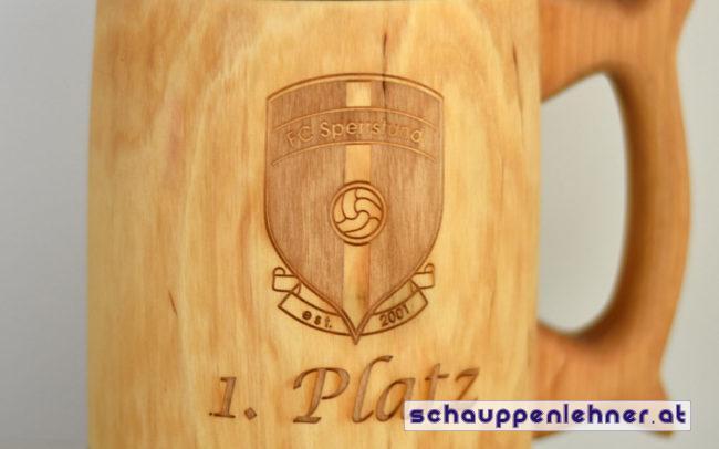 Bierkrug 1. Platz FC Sperrstund