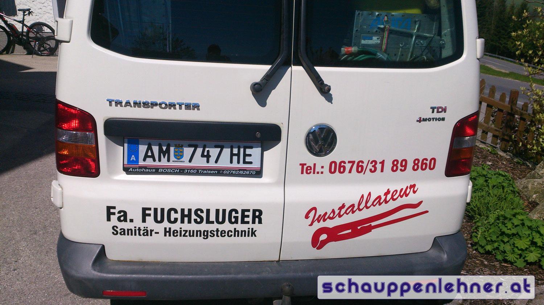 Firmenbus Beklebung Rückseite