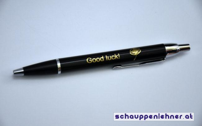 Kugelschreiber mit eingraviertem Schriftzug