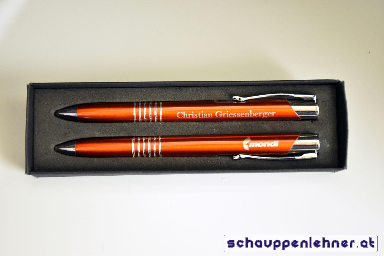 Gravierte Kugelschreiber für Mondi