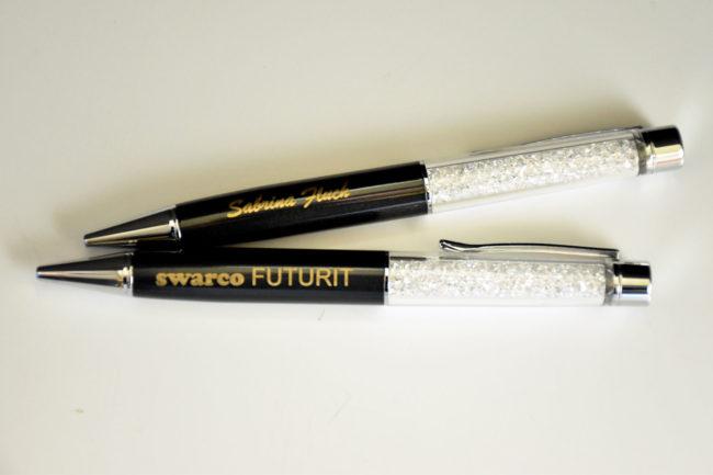 Gravierte Kugelschreiber für Swarco Futurit