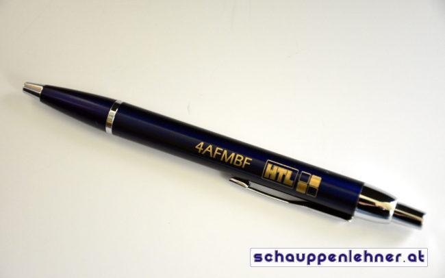 Gravierter Kugelschreiber für die Maschinenbauklasse der HTL Waidhofen Ybbs