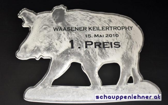 Preis für den ersten Platz bei der Waasener Keilertrophy