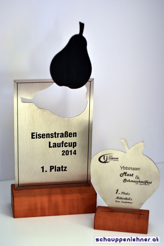 Diverse kreative Pokale und Auszeichnungen