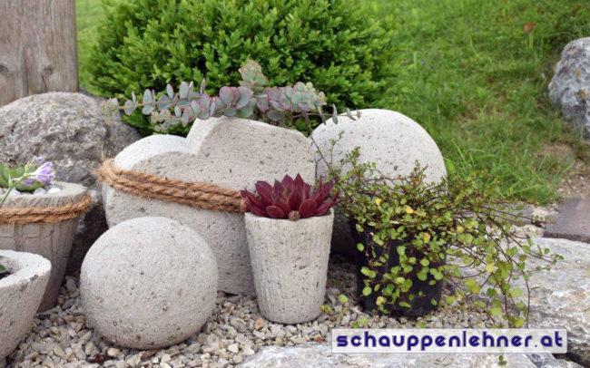 Steindekor für den Garten
