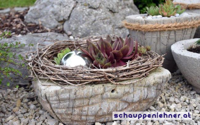 Steinschale für den Garten